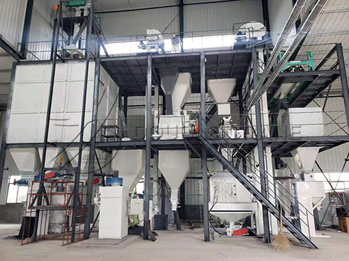5tph poultry feed processing plant project